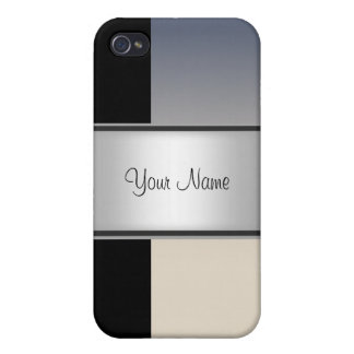 Black grey Abstract 4s  Cover For iPhone 4