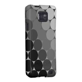 Black, Grey and White Geometric Cirlces Pattern Galaxy S2 Cover