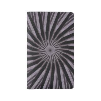 Black, grey and White Optical Illusion Circles Large Moleskine Notebook