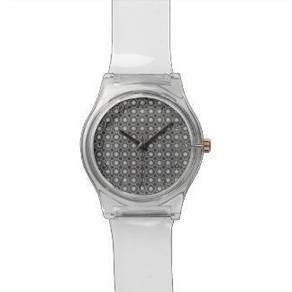 Black, grey and White Optical Illusion Circles Wristwatch