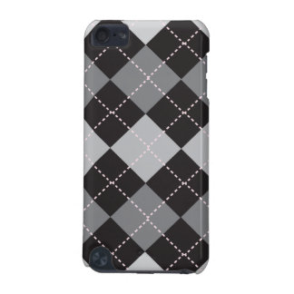 Black Grey Argyle Pattern iPod Touch (5th Generation) Case