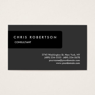 Black Grey Attractive Charming Business Card