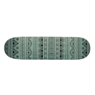 black&grey aztec pattern skateboard deck
