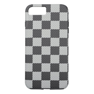 Black & Grey Carbon Fiber Checker Board iPhone 7 Plus Case
