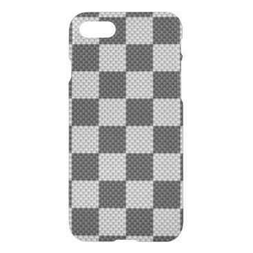 Halloween Themed Black & Grey Carbon Fiber Checker Board iPhone 8/7 Case