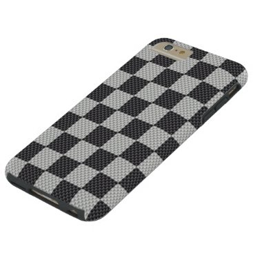 Halloween Themed Black & Grey Carbon Fiber Checker Board Tough iPhone 6 Plus Case
