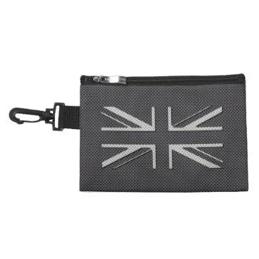 Disney Themed Black & Grey Carbon Fiber UK Flag Union Jack Accessory Bag