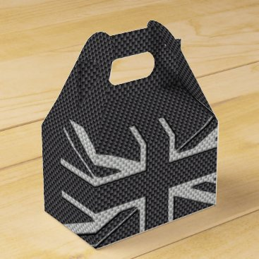 Disney Themed Black & Grey Carbon Fiber UK Flag Union Jack Favor Box