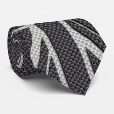 Beach Themed Black & Grey Carbon Fiber UK Flag Union Jack Tie