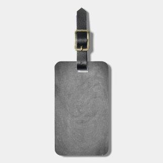 Black Grey Chalkboard Blackboard Background Bag Tag