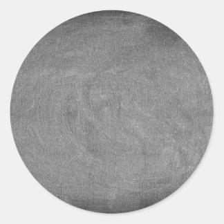 Black Grey Chalkboard Blackboard Background Classic Round Sticker
