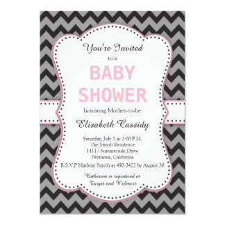 Pink Chevron Baby Shower Invitations Announcements Zazzle