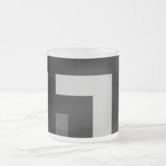 Black/Grey Color Corner (MB) Frosted Glass Coffee Mug