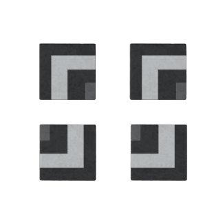 Black/Grey Color Corner (MB) Stone Magnet