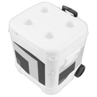 Black/Grey Color Corner (MB) Igloo Rolling Cooler