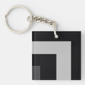 Black/Grey Color Corner (MB) Keychain