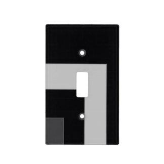 Black/Grey Color Corner (MB) Light Switch Plate