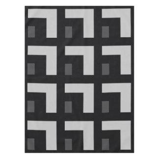 Black/Grey Color Corner (MB) Tablecloth
