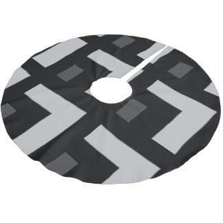 Black/Grey Color Corner (MB) Brushed Polyester Tree Skirt