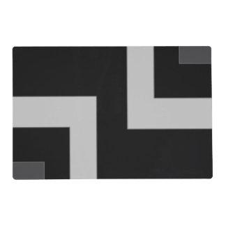 Black/Grey Color Corner (MB) Laminated Placemat
