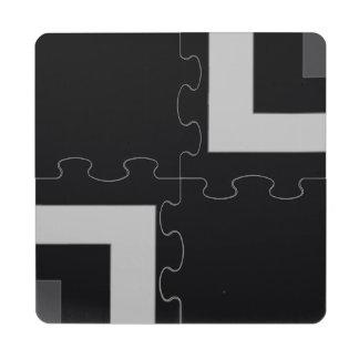 Black/Grey Color Corner (MB) Puzzle Coaster