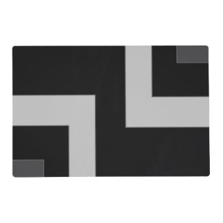 Black/Grey Color Corner (MB) Placemat