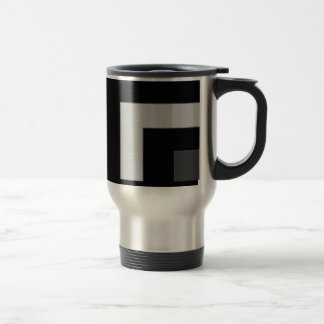 Black/Grey Color Corner (MB) Travel Mug