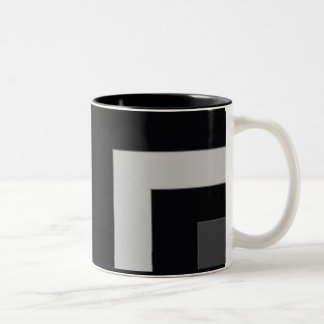 Black/Grey Color Corner (MB) Two-Tone Coffee Mug