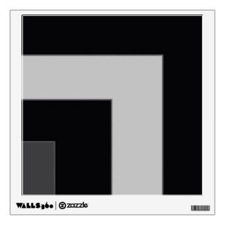 Black/Grey Color Corner (MB) Wall Decal