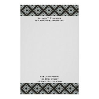 Black Grey CrissCross Stationery