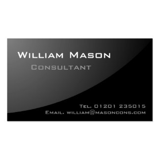 Black Grey Curved - Professional Business Card