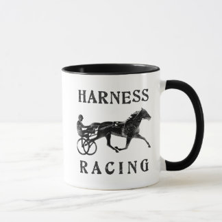 Black Grey Harness Horse Silhouette Mug