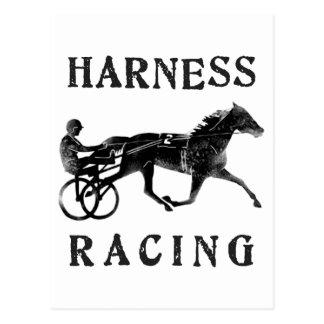 Black Grey Harness Horse Silhouette Postcard