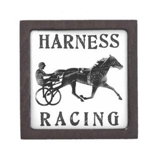 Black Grey Harness Horse Silhouette Premium Trinket Box
