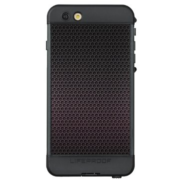 Aztec Themed Black Grey Hexagonal Carbon Fiber Honeycomb Mesh LifeProof NÜÜD iPhone 6s Plus Case