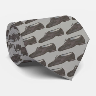 Black Grey Jazz Dance Shoe Teacher Choreographer Neck Tie
