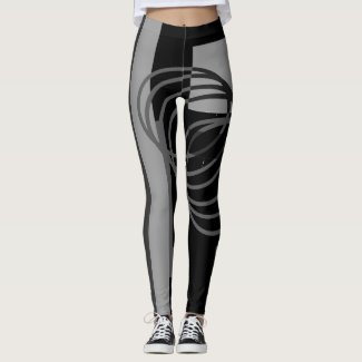 Black Grey Leggings