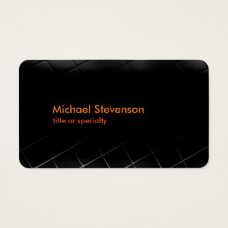 Black Grey Pattern Rounded Standard Business Card