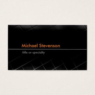 Black Grey Pattern Trendy Standard Business Card