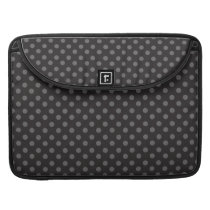 BLACK GREY POLKA DOTS PATTERN SLEEVE FOR MacBook PRO