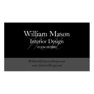 Black Grey Professional Business Card