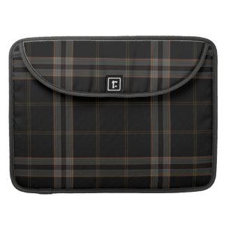 Black Grey Red Tartan Plaid Sleeve For MacBook Pro