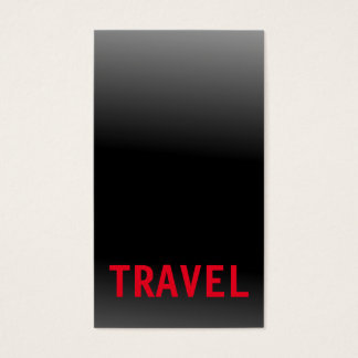 Black Grey Red Travel Agent Professional Business Card