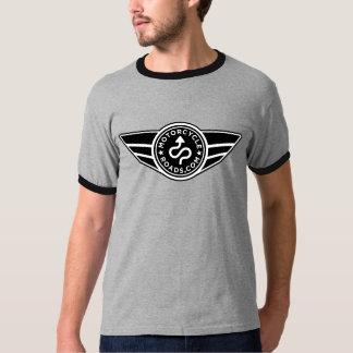 Black & grey ringer T-shirt w/basic black MCR logo