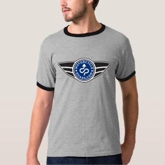Black & grey ringer T-shirt w/basic blue MCR logo