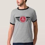 Black & grey ringer T-shirt w/basic red MCR logo