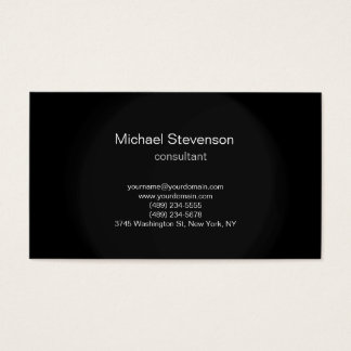 Black Grey Simple Plain Consultant Business Card