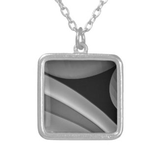 BLACK GREY SMALL SILVER PLATED NECKLACE