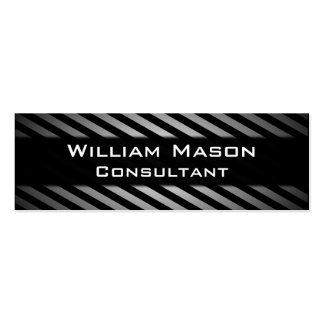 Black & Grey Striped Professional Business Card