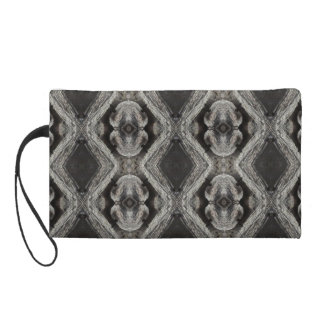 Black, Grey & Tan - Wristlet